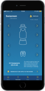 SunSmart app sunscreen calculator